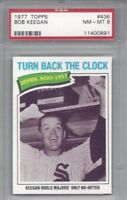 1977 Topps baseball card #436 Bob Keegan, Chicago White Sox graded PSA 8 NMMT