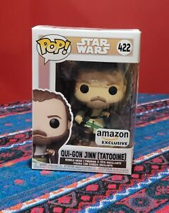 Qui-Gon Jinn Tattooine Amazon Exclusive Funko Pop Star Wars Across The Galaxy!!!