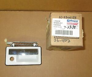 Mopar FS06LW7 Outside Right White Handle 1989-1993 Chrysler Imperial NOS