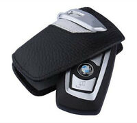 1Pc Silver Genuine Leather BMW Key Case Bag Sport Line Fits BMW 2 3 5Series X3