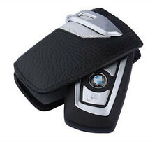 1Pc Silver Genuine Leather BMW Key Case Bag Sport Line Fits BMW 2 3 5Series X3