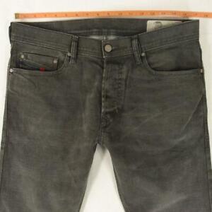 Mens Diesel TEPPHAR R4EL8 Stretch Slim Straight Grey Jeans W33 L32