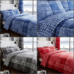 New Luxury DENIM Duvet Cover Quilt Cover With Pillowcase Size Single Double King