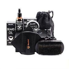 Men Beard Care Kit Barba Grooming Set Oil Moisturizing Wax Blam Gift 8pcs/set