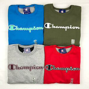Champion Men's Sweatshirt Fleece Crew Neck Pullover