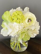 Diane James Home Floral Flowers White  Hydrangeas & Peony Originally $340.