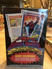 1990 Marvel Universe Series 1 Factory Sealed Box Impel (Guaranteed Authentic)