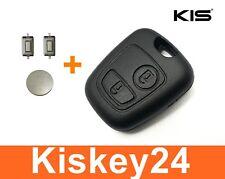 Key Housing for Peugeot Citroen 106 206 207 306 307 + 2x Push Button + Battery