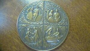 1985 Franklin Mint Annual Calender Bronze Medal No Box or Papers SEE PICS