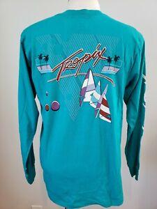 Vtg NOS 80s Tropix Long sleeve T-Shirt, Surf, Beach, Large, Single Stitch, USA