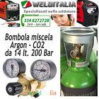 BOMBOLA 14 LT. 200 BAR MISCELA ARGON/CO2 SALDATRICE A FILO E RIDUTTORE EUROPEA