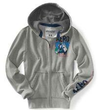Gray Aeropostale Eclectic Aero Cali Mens Zip Up Sweatshirt Hoodie Jacket XL XXL