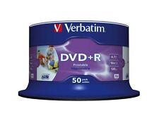 300 DVD +R PRINTABLE VERBATIM AZO 16x vergini stampabili inkjet FULL PRINT 43512
