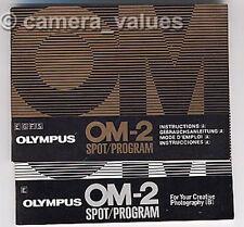 Olympus Om-2 Spot instrucción de programa Libros A&B, más cámaras guías del usuario en venta