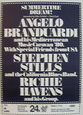 ANGELO BRANDUARDI STEPHEN STILLS RICHIE HAVENS CONCERT TOUR POSTER 1980