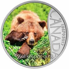 2017 Celebrating Canada's 150th 7 Grizzly Bear British Columbia $10 Silver Proof
