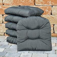 Sitzkissen 49x48x10 cm in grau Stuhlkissen Kissen für Rattan Holz und Geflecht