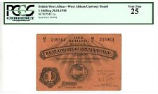 British West Africa ... P-1a ... 1 Shillings ... 1918 ... *VF* ... PCGS 25