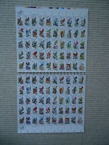 2X sheets of 50 (A & B perfs) 1982 USA STATE BIRDS & FLOWERS MNH SG1930a Pl 1&2