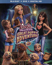 Barbie In the Great Puppy Adventure NEW Bluray & DVD/case/cover only-no digital