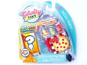 Totally Tiny Pizza Party 9 pc Mini Food Set & Slimy Ooze Trendy Mini Food