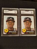 Lot of (2) * GEM MINT 10 * 2018 TOPPS LIVING #19 RONALD ACUNA JR. ROOKIE PSA ??