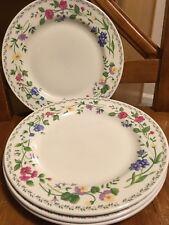 Farberware Stoneware English Garden 225 Pattern 4 X Salad Plates