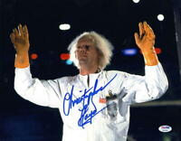 CHRISTOPHER LLOYD SIGNED 11X14 PHOTO BACK TO THE FUTURE DOC BROWN AUTO PSA/DNA L