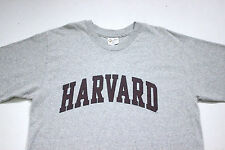 Sz L Vtg HARVARD Spellout Ivy League Stadium Heather Gray Rayon Blend T-Shirt