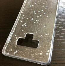 For Samsung Galaxy Note 9 - SOFT TPU RUBBER PHONE CASE COVER CLEAR GLITTER STARS