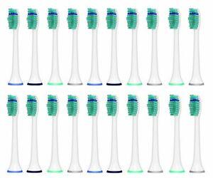 20 Ihealthia Toothbrush Heads Compitable w/ Philips Sonicare Brush Heads HX6014