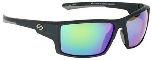 StrikeKing S11 Pickwick Sunglasses Black Frame/White-Blue Mirror Amber Base