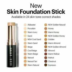 Bobbi Brown SKIN Foundation Stick Makeup WARM NATURAL 4.5 FLAWLESS Full Sz NIB