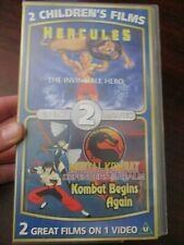 Hercules / Mortal Combat  VHS Video Tape (NEW)