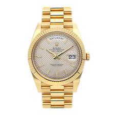 Rolex Day-Date 40 de Diagonal Motif Dial Reloj Automático para Hombre 228238 Oro Amarillo
