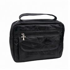 Bible Book Covers Black Genuine Leather Carry Case Tote Bag