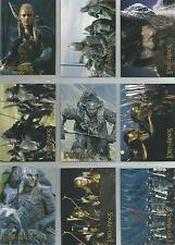 "Lord Of The Rings Two Towers Hobby Japan ""Character"" 10 Card Non-Foil Chase Set"