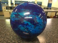 New OTB Blue Green Teal Water Background Swirl 10# Bowling Ball Viz-a-Ball (119)