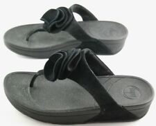 Fit Flop Yoko FlipFlops Womens Size 9 Black Slip On Thong Sandals