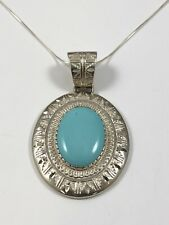 Southwestern Sterling Silver Turquoise Necklace by Carolyn Pollack. Relios