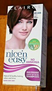 Clairol Nice'n Easy Semi Permanent Hair Dye No Ammonia 815 RR Dark Mahogany