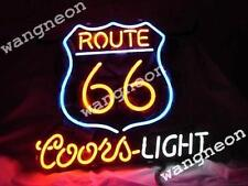 New COORS LIGHT ROUTE 66 BUD Budweiser Beer Bar Real Glass Neon Sign FREE SHIP