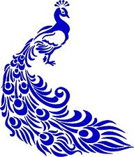 30 Custom Blue Fancy Peacock Personalized Address Labels
