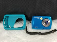 Polaroid iS048 Waterproof Instant Sharing 16MP Digital Action Camera, Blue