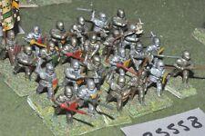 25 mm/inglés-desmonta una Caballeros Medievales 24 figuras-INF (25558)