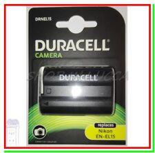 Batteria Ricaricabile DURACELL DRNEL15 = Nikon EN-EL15 x D500 D600 D800 D7000