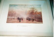 Print of:  The Embankment London by H.M Marshall R.W.S./R.P. E. (1841-1913)