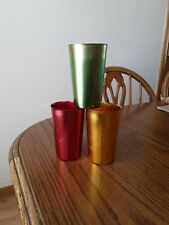 Tumblers 3 Vintage Aluminum Bascal made in Italy