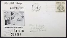 CHAMPION of Liberty Ernst Reuter 4c stamp on US COVER FDC USA solo tag lettera y-42