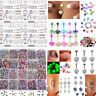 105pcs Bulks Wholesale Lots Tongue Eyebrow Lip Belly Navel Ring Body Piercing TR